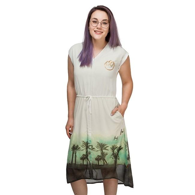 Women's We Love Fine x Star Wars Rogue One Scarif Rebel Desert sleeveless dress at ThinkGeek