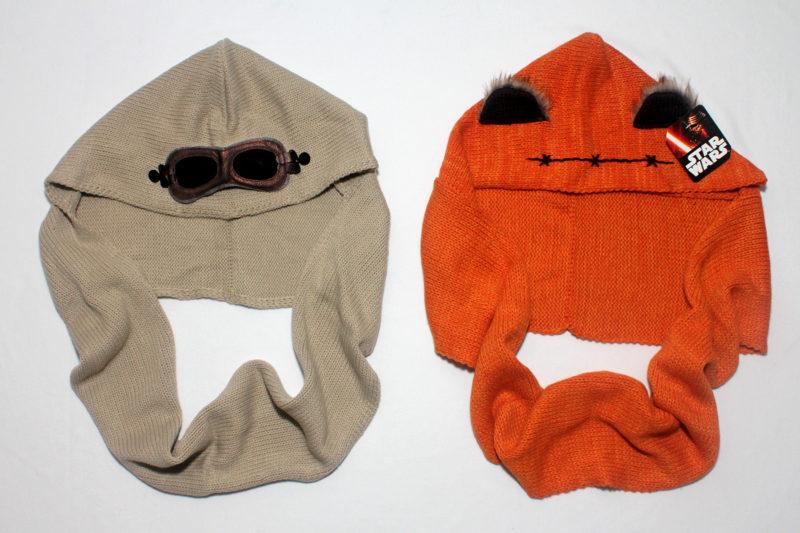 Rey scarf and Ewok scarf