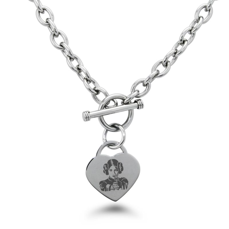 Star Wars Princess Leia laser engraved jewelry by Tioneer