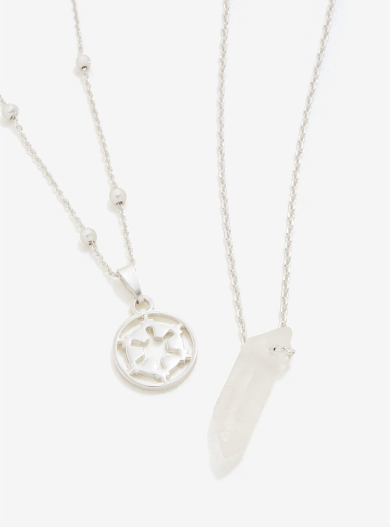 Star Wars Galactic Empire Kyber Crystal necklace jewelry set at Box Lunch