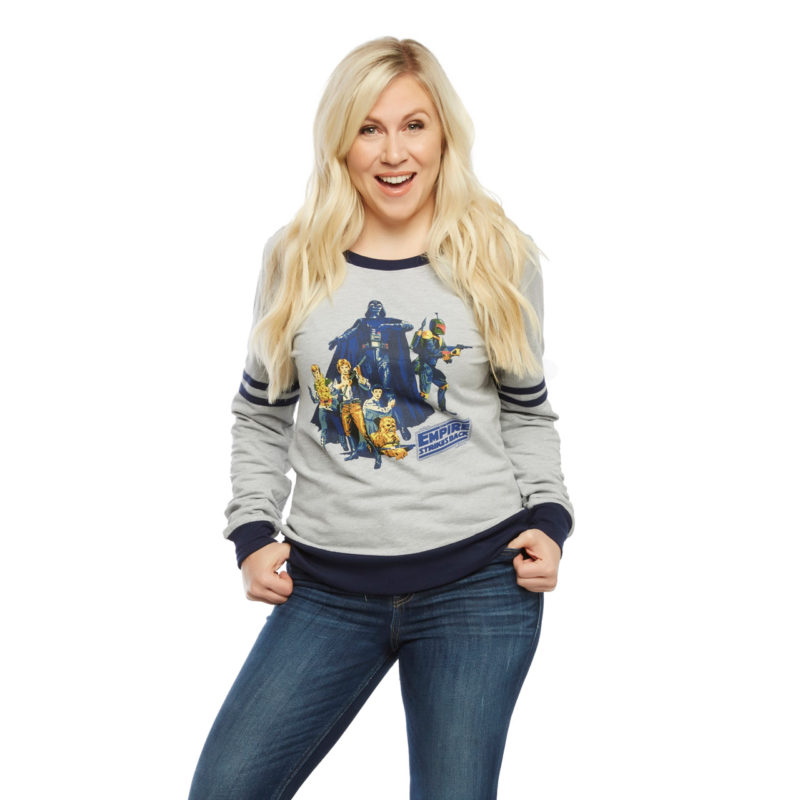 Women's Her Universe x Star Wars classic athletic pullover at San Diego Comic Con 2017