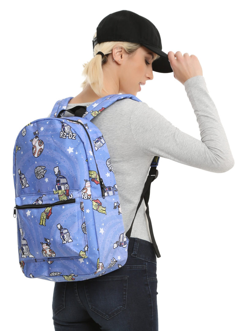 Star Wars Droids printed backpack at Hot Topic
