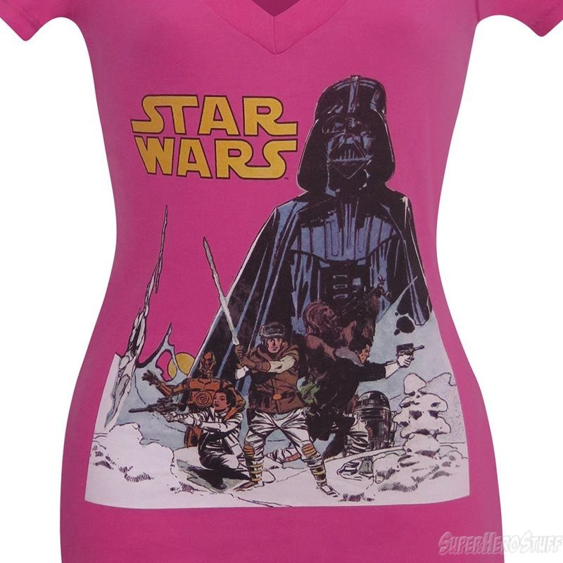 Women's Star Wars v-neck t-shirt at SuperHeroStuff