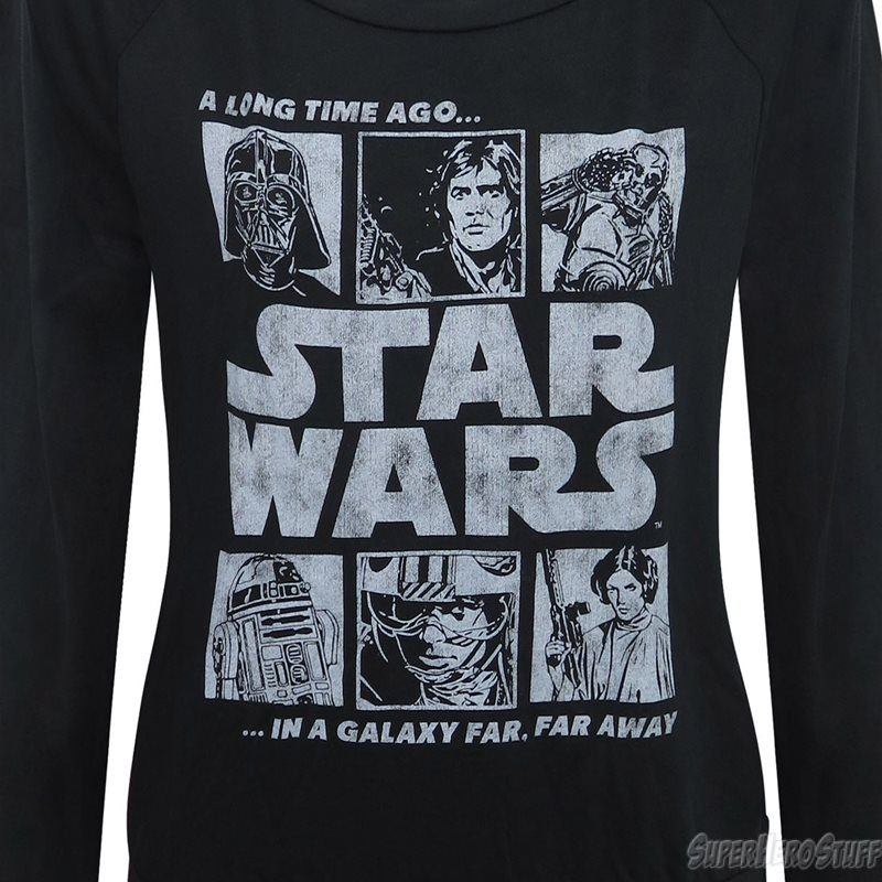 Women's Star Wars A Long Time Ago long sleeved t-shirt at SuperHeroStuff