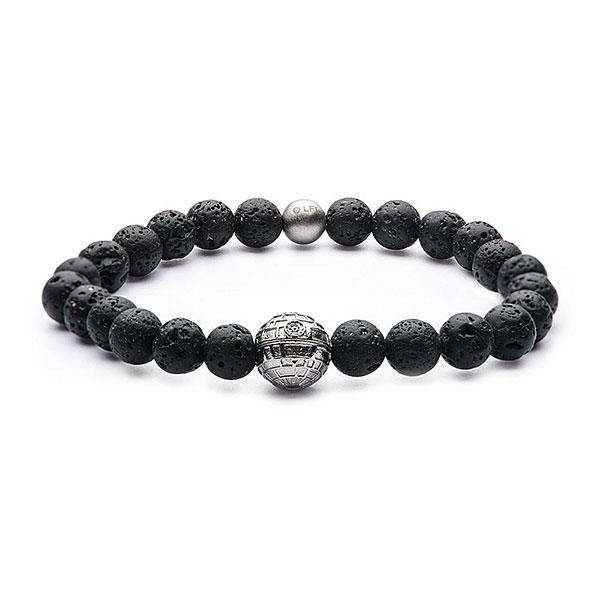 Star Wars Death Star lava rock bead bracelet at ThinkGeek