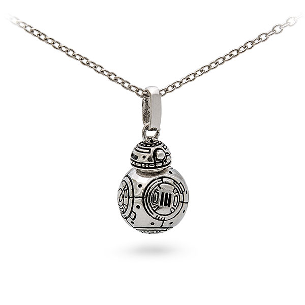 Star Wars Sterling Silver BB-8 necklace at ThinkGeek