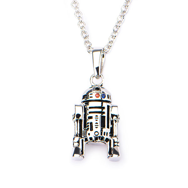 Star Wars Sterling Silver R2-D2 necklace at ThinkGeek