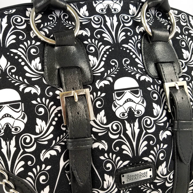 Star Wars stormtrooper damask dome handbag by Etsy seller BenaeQuee Creations