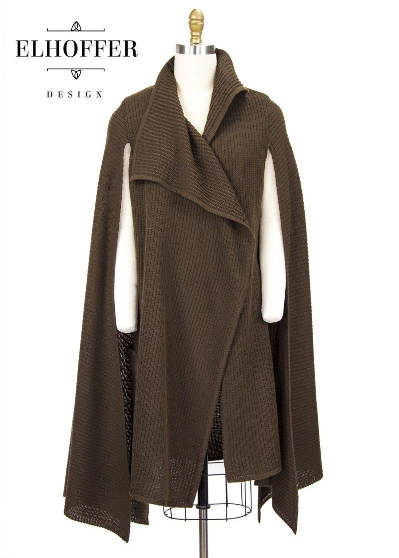 Star Wars General Leia Organa inspired Galactic General longline cardigan by Elhoffer Design