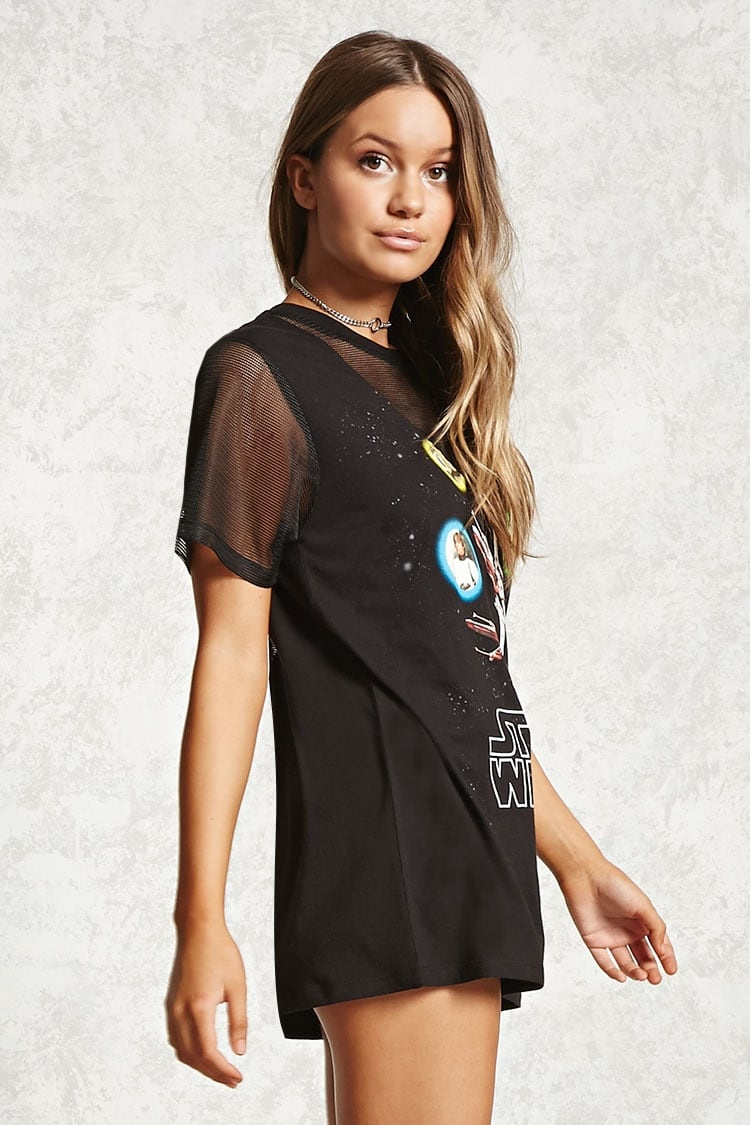 Women's Star Wars mesh panel t-shirt at Forever 21