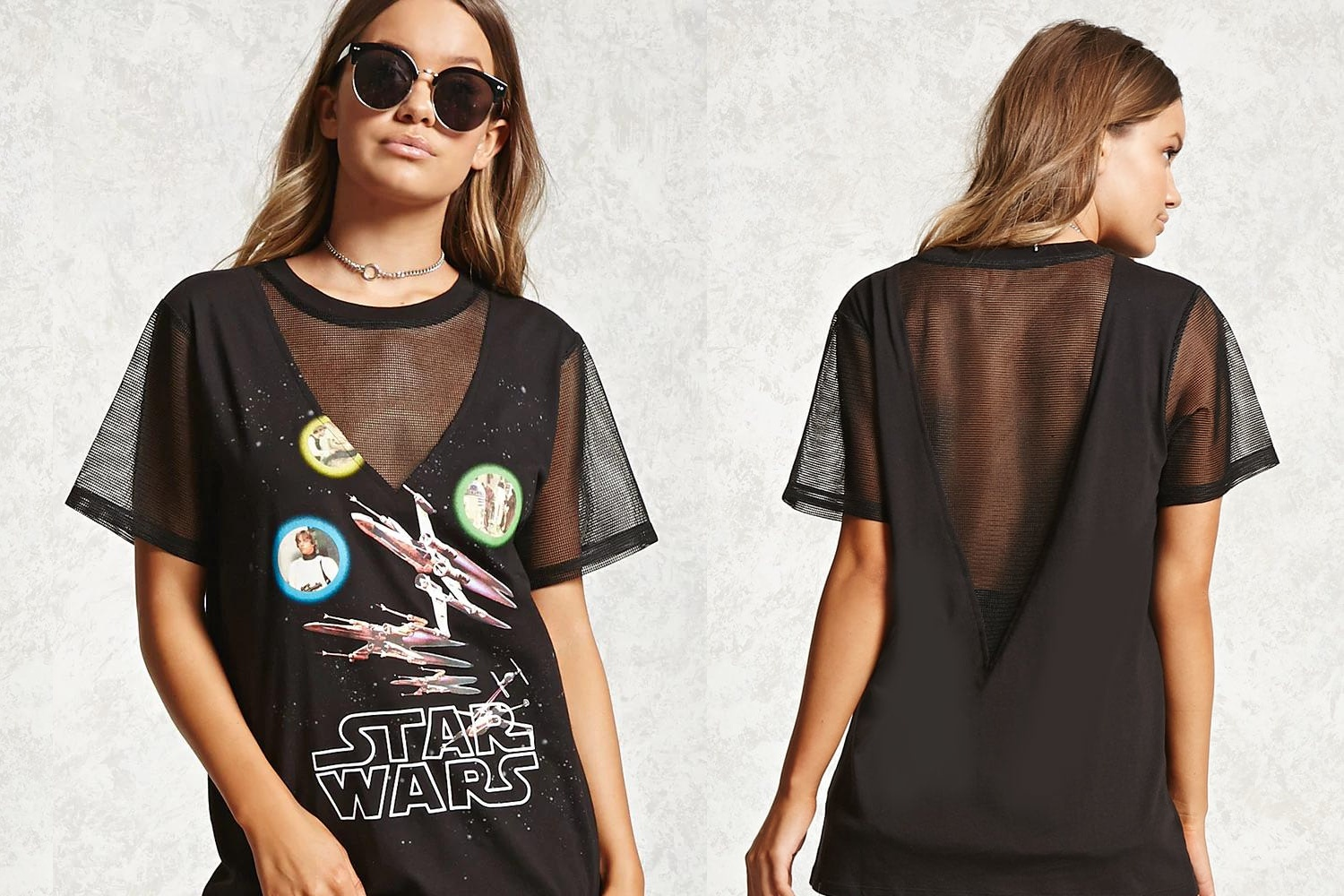 Star Wars Mesh Panel Tee at Forever 21