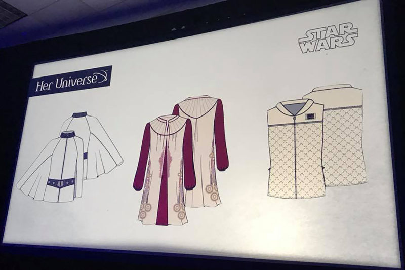 New women's Her Universe x Star Wars Princess Leia inspired fashion for Disney Store