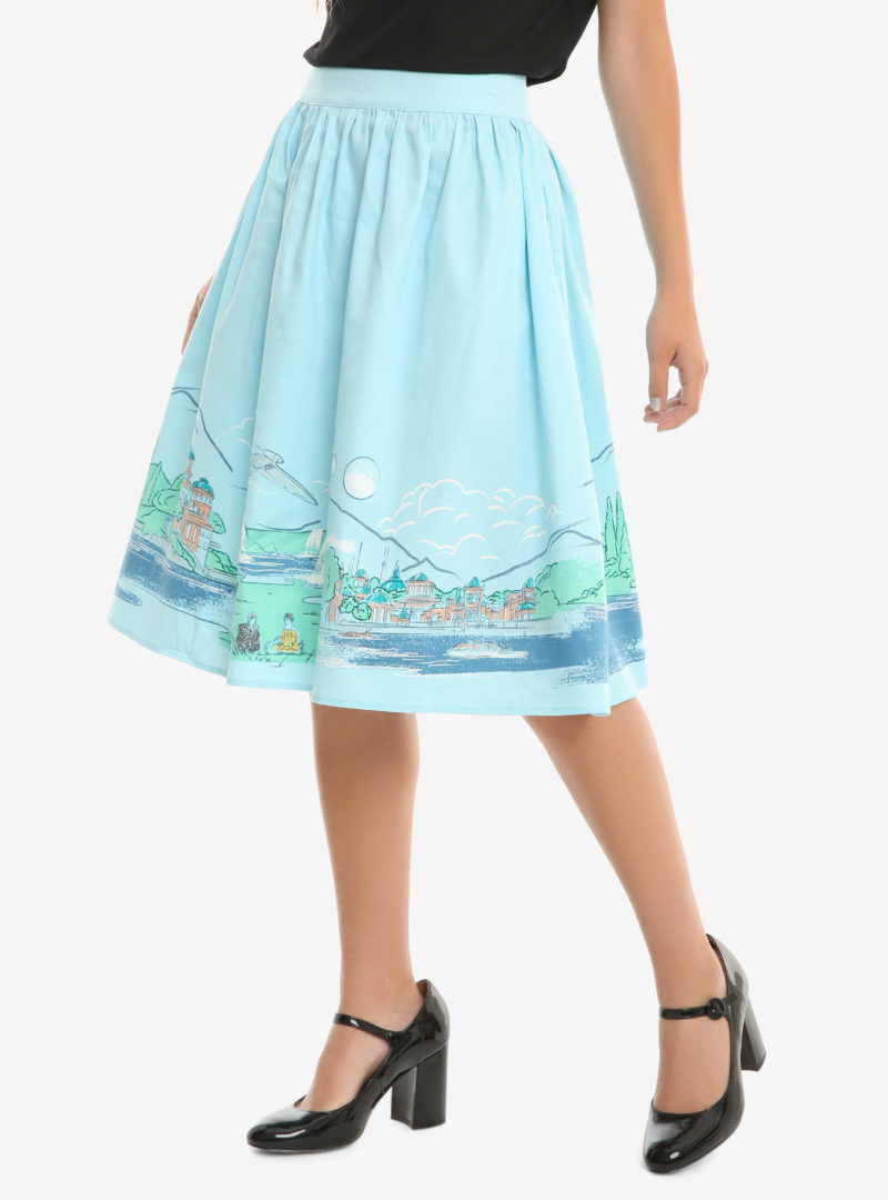 Star Wars Naboo landscape woven circle skirt at Her Universe