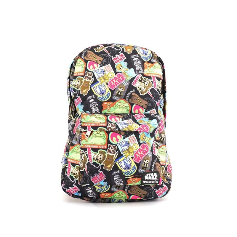 Loungefly x Star Wars kawaii sticker print backpack