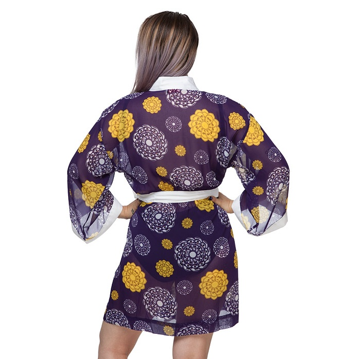 Star Wars Droid R2-D2 C-3PO floral chiffon cover-up robe at ThinkGeek