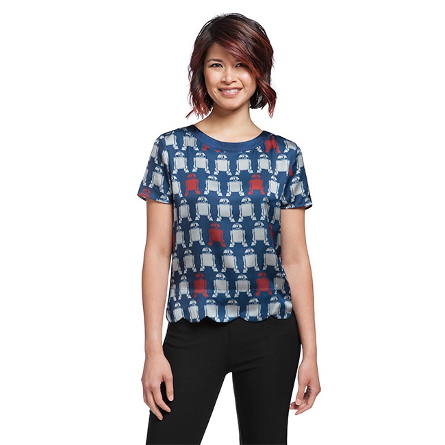 Her Universe x Star Wars R2-D2 print tunic blouse at ThinkGeek