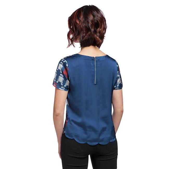 Her Universe x Star Wars R2-D2 print tunic blouse at ThinkGeek