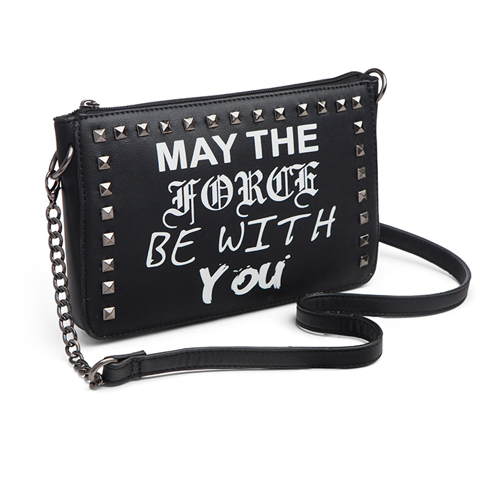 Star Wars May The Force Be With You punk style crossbody handbag at ThinkGeek
