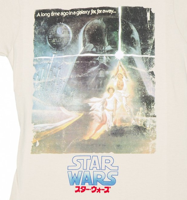 Women's Star Wars Japanese Poster Artwork T-shirt at TruffleShuffle