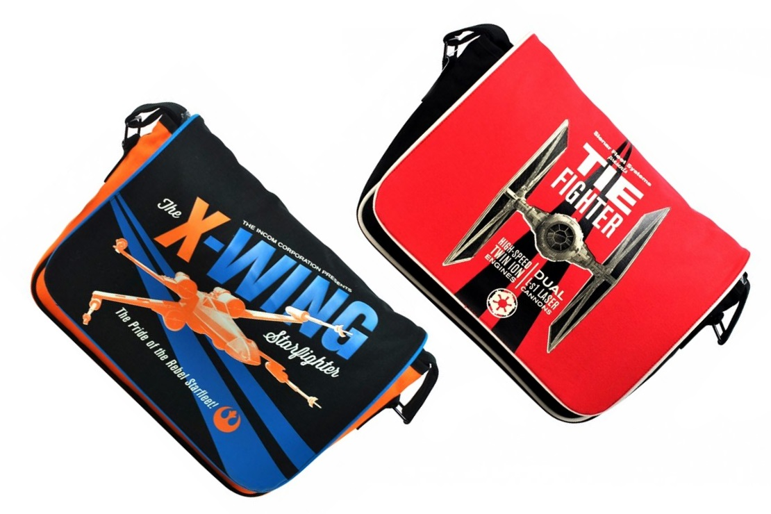 New Star Wars Starfighter Messenger Bags