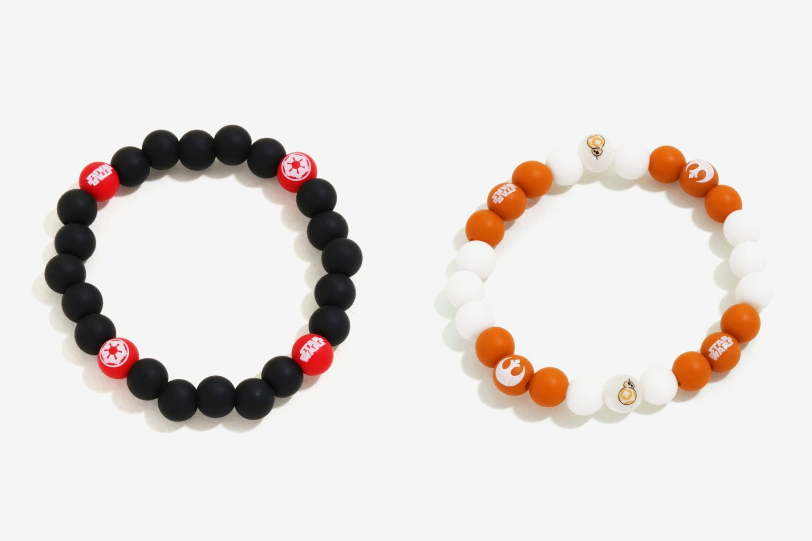 Star Wars Silicone Bead Braclets at Box Lunch
