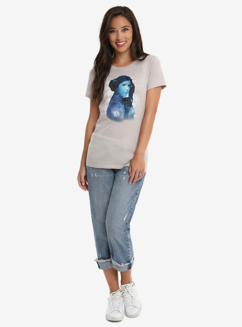 Women's Her Universe x Star Wars Princess Leia Galaxy T-shirt