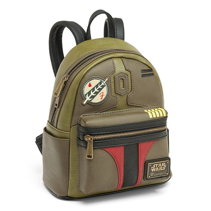 Loungefly x Star Wars Boba Fett faux leather mini backpack at ThinkGeek