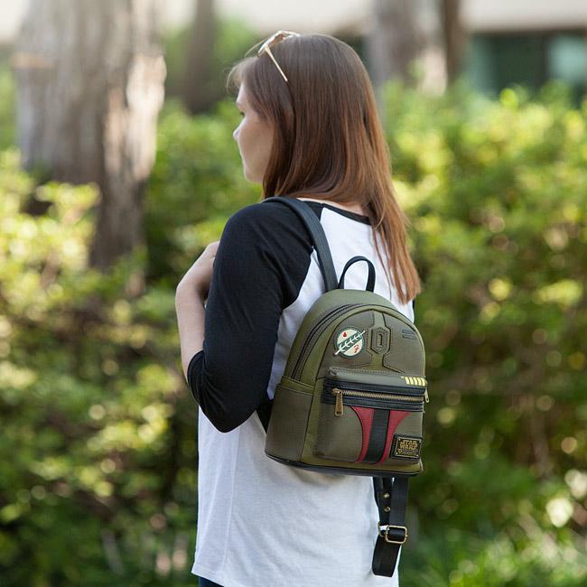 Loungefly x Star Wars Boba Fett faux leather mini backpack at ThinkGeek