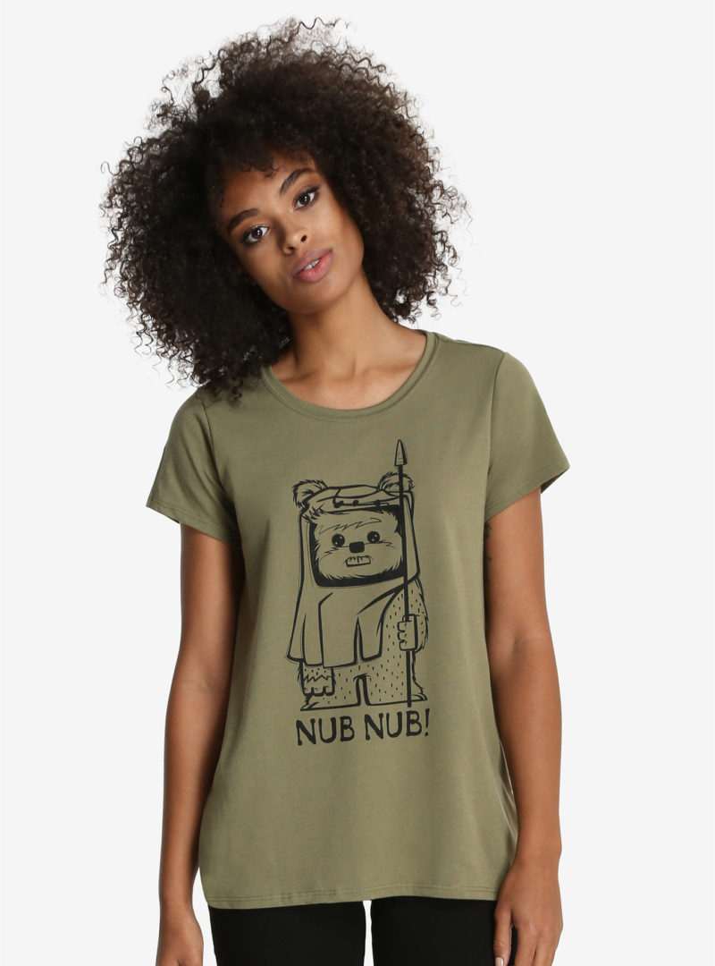 Women's Her Universe x Star Wars Ewok Nub Nub t-shirt at Box Lunch