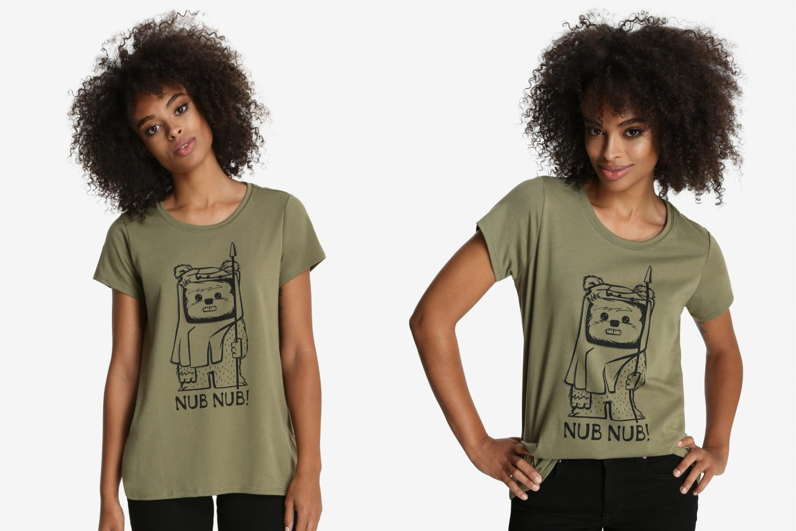 Women's Her Universe Ewok Nub Nub T-shirt