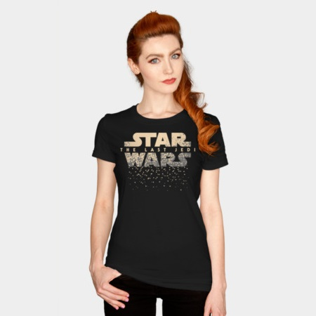 Women's Star Wars The Last Jedi disintergrating logo t-shirt at Design By Humans