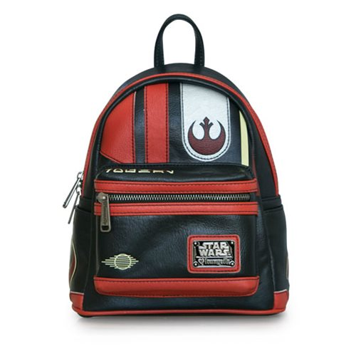 148107a2e12 Loungefly x Star Wars The Last Jedi Poe Dameron helmet mini backpack at  Entertainment Earth