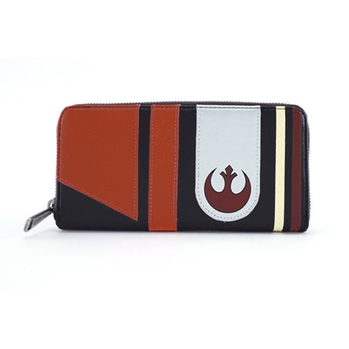 Loungefly x Star Wars The Last Jedi Poe Dameron helmet zip around wallet at Entertainment Earth
