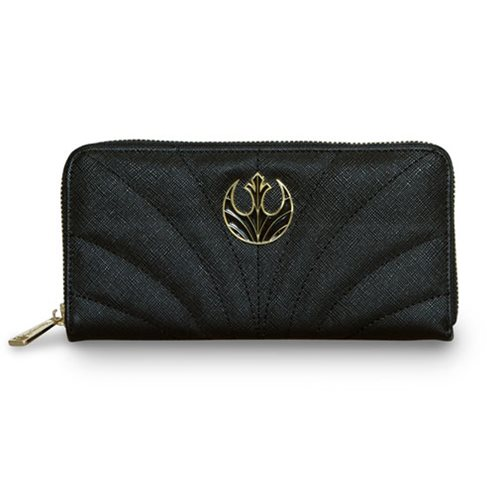 Loungefly x Star Wars The Last Jedi Rebel symbol canto zip-around wallet at Entertainment Earth