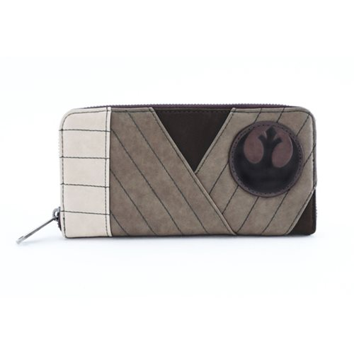Loungefly x Star Wars The Last Jedi Rey cosplay zip around wallet at Entertainment Earth