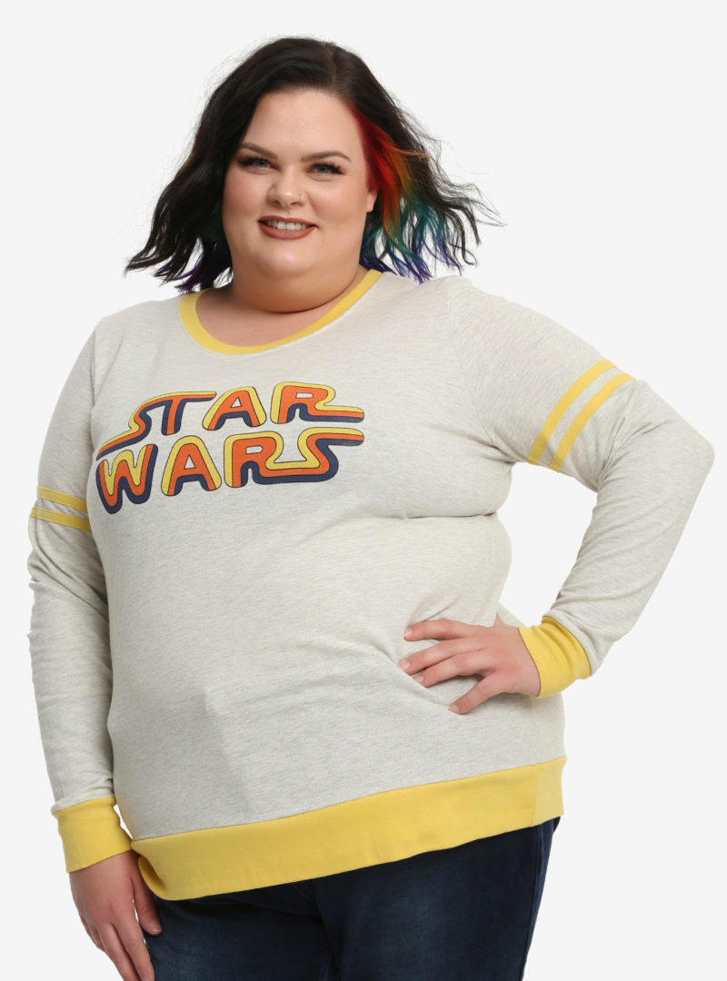 Women's Her Universe x Star Wars classic logo athletic plus size pullover