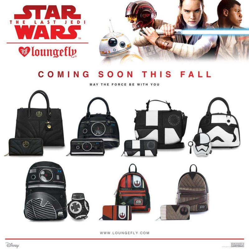 Loungefly x Star Wars The Last Jedi handbag range preview