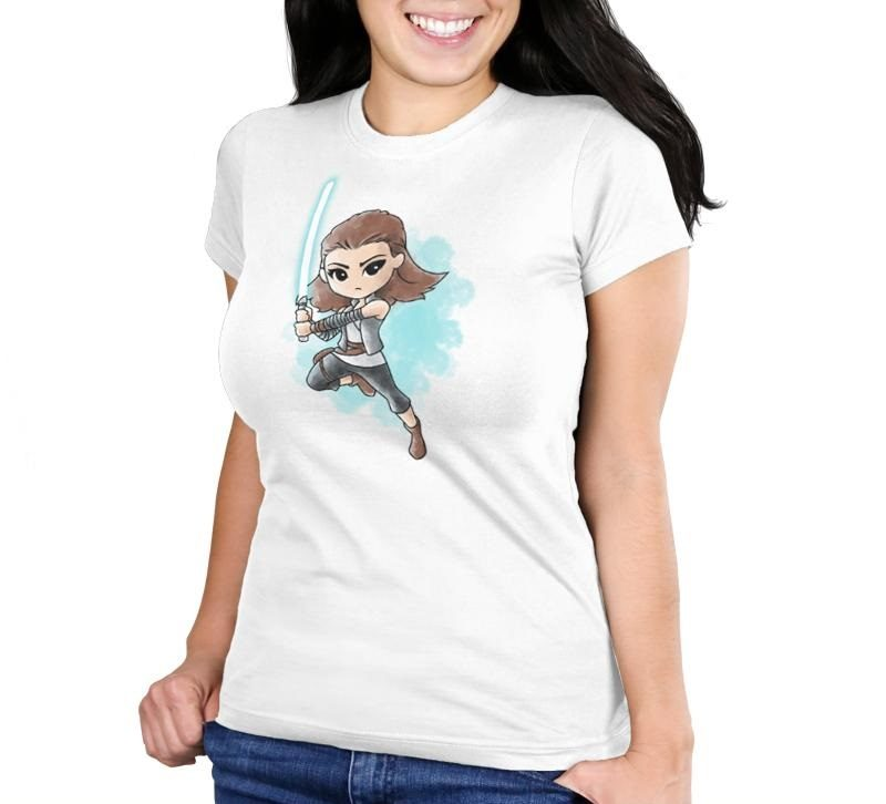Women's Star Wars The Last Jedi Rey watercolour t-shirt at TeeTurtle