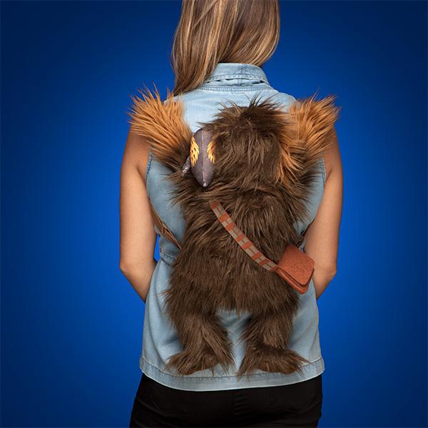 Star Wars The Last Jedi Chewbacca with Porg back buddy bag at ThinkGeek