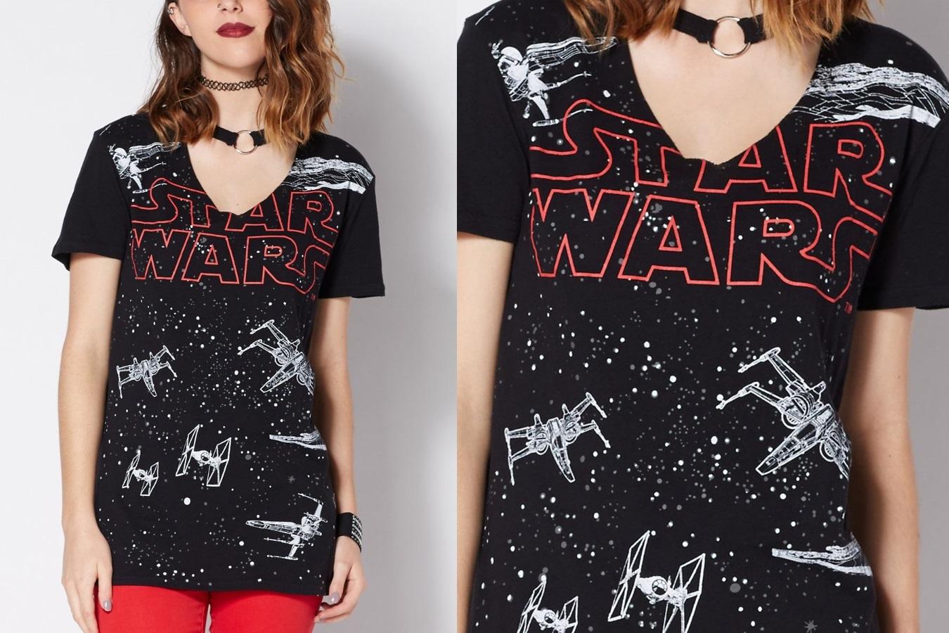Women's Star Wars Space Battle Choker Tee
