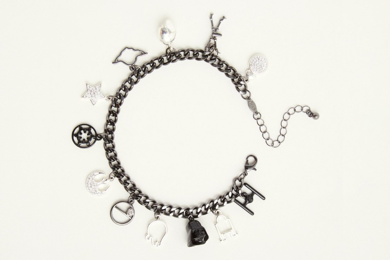 New Star Wars Light and Dark Charm Bracelet