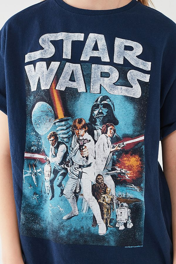 Women's Junk Food Clothing x Star Wars poster t-shirt at Urban Outfitters