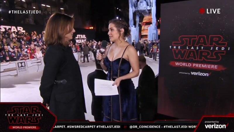 Kathleen Kennedy on the red carpet for The Last Jedi premiere
