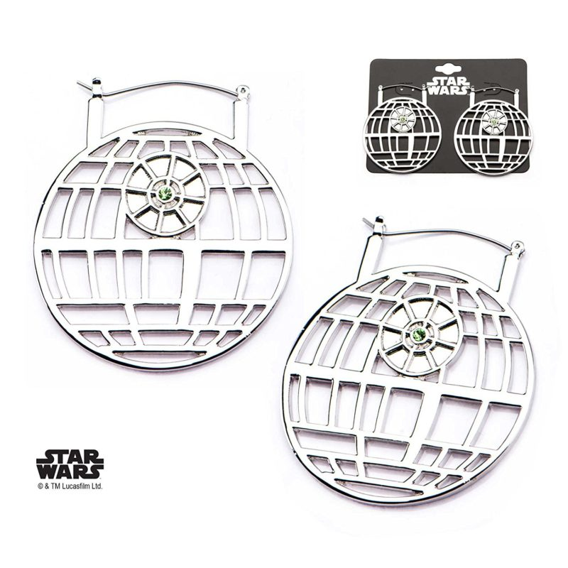 Body Vibe x Star Wars Death Star hoop earrings on Amazon
