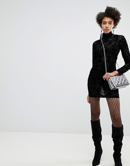 Women's ASOS x Star Wars Funnel Neck Burnout Dress