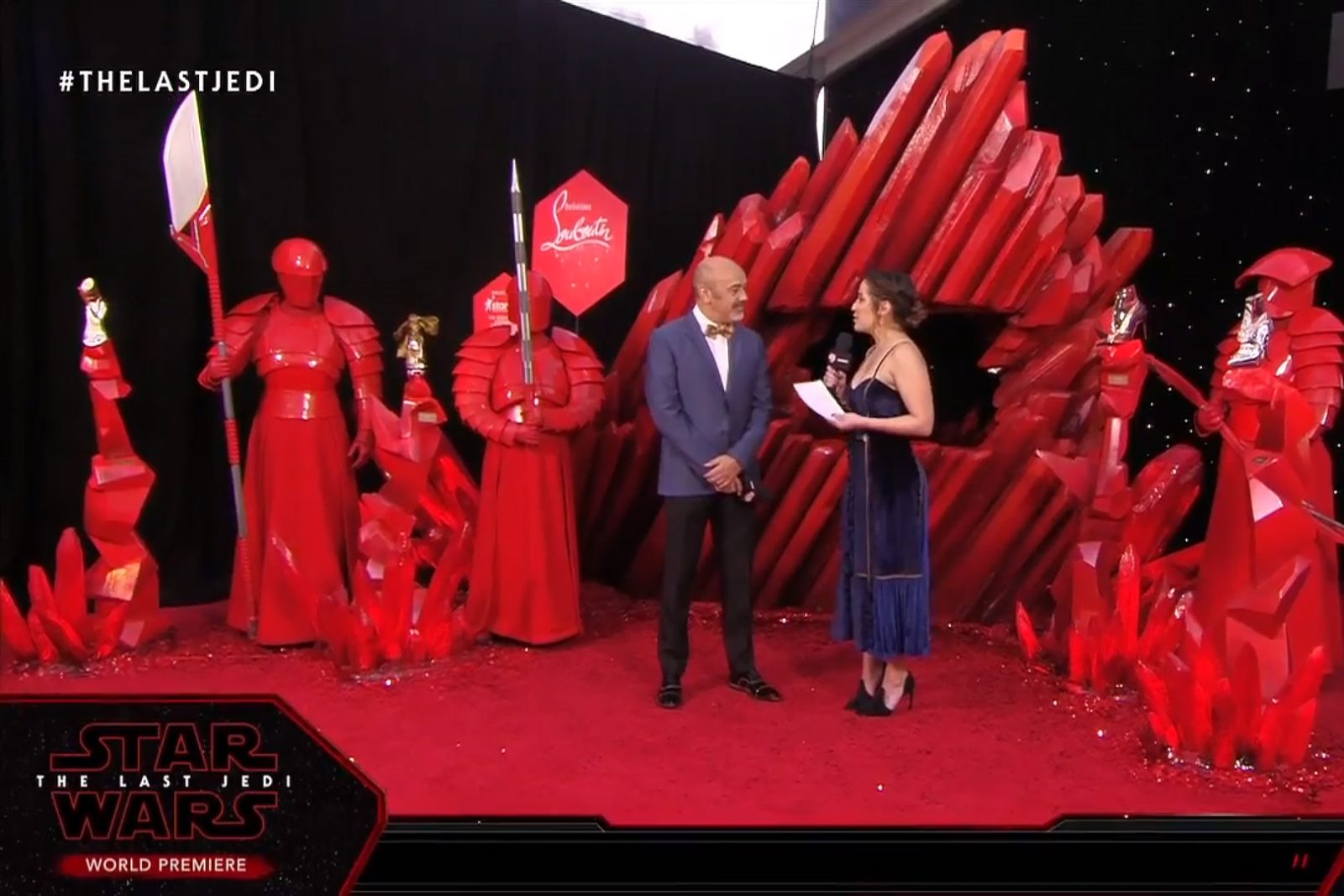 Christian Louboutin at the TLJ Premiere