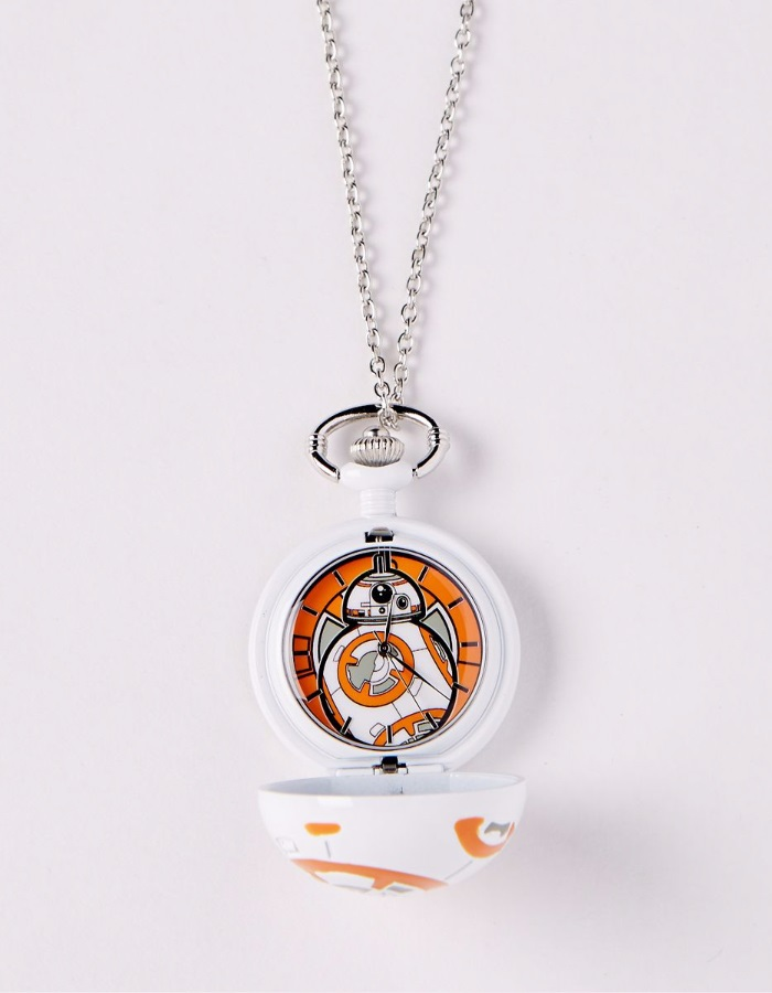 Star Wars BB-8 dome pocket watch necklace at Spencers