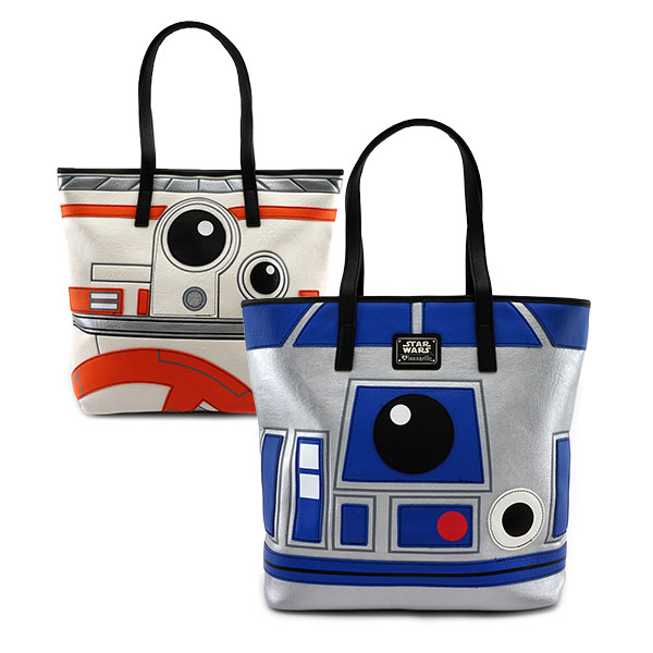 Loungefly x Star Wars R2-D2 & BB-8 two-sided tote bag at ThinkGeek