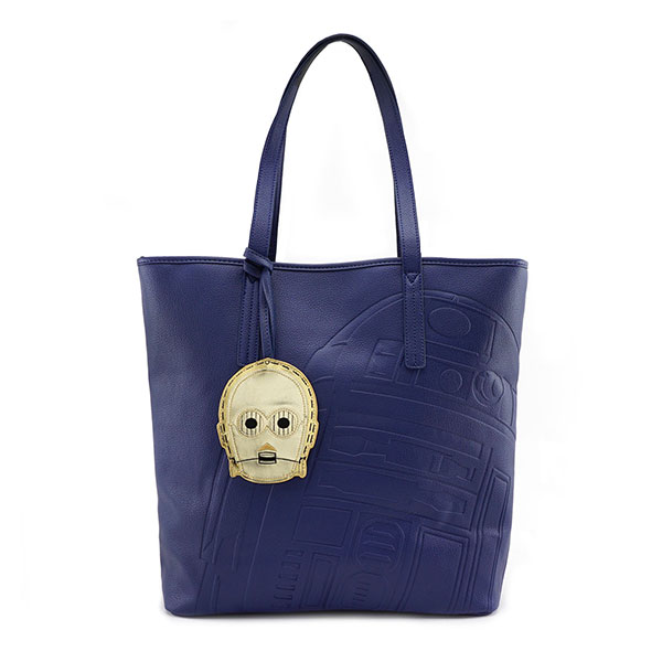 Loungefly x Star Wars R2-D2 debossed faux leather tote bag at ThinkGeek