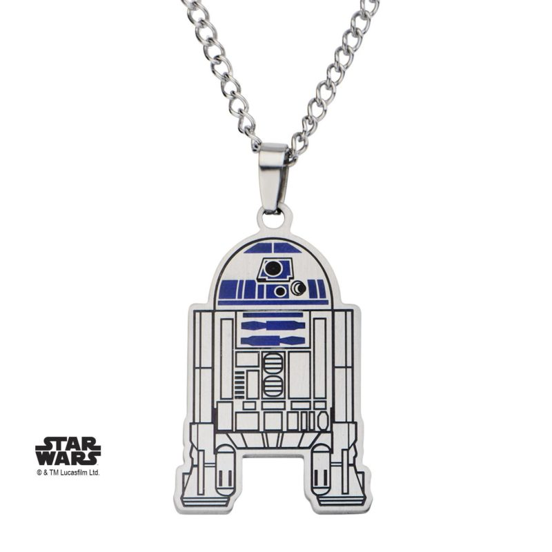 Star Wars R2-D2 enamel necklace at Amazon